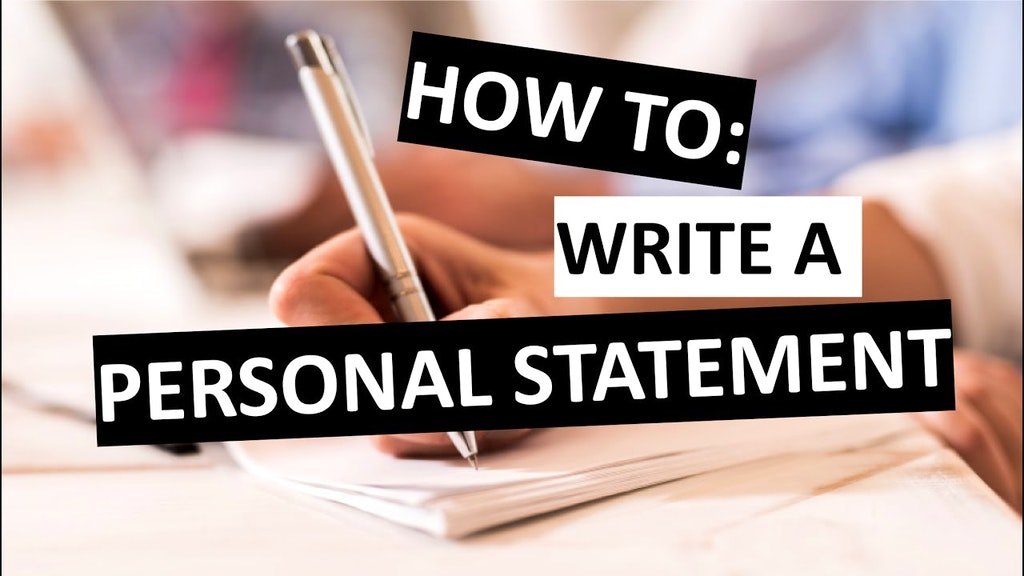 How To Write A Personal Statement Letter: A Sample