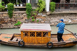 Suzhou canal boat