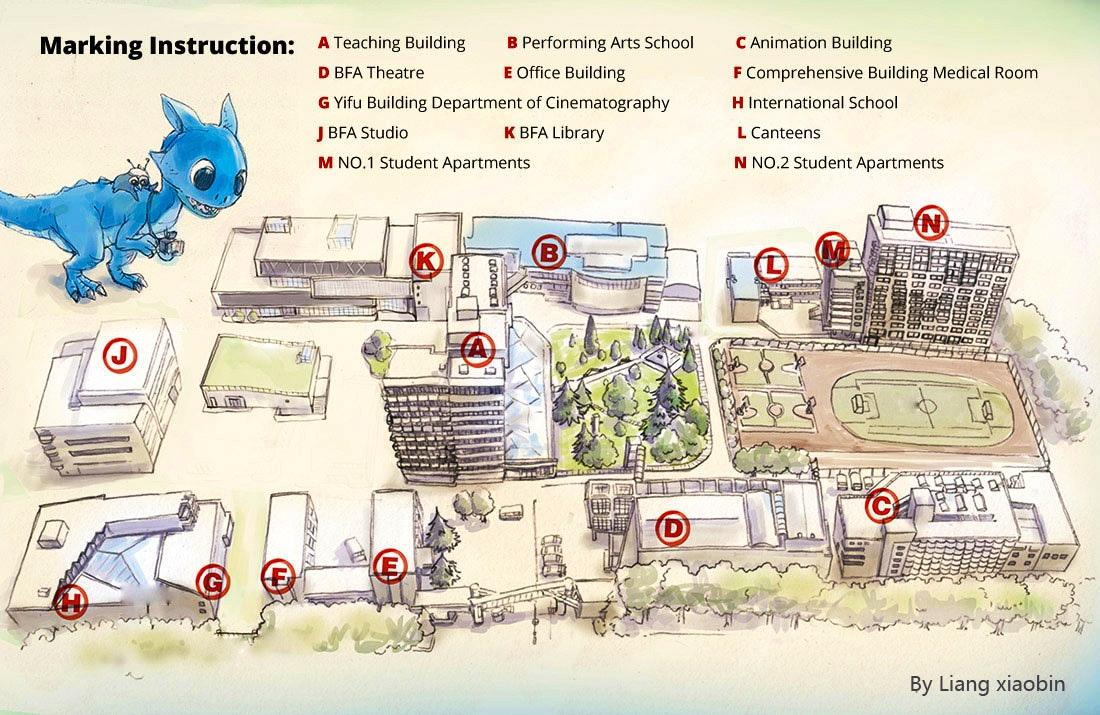Beijing Film Academy (BFA) campus map