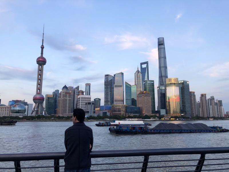 Michael, CEIBS student, at Shanghai city