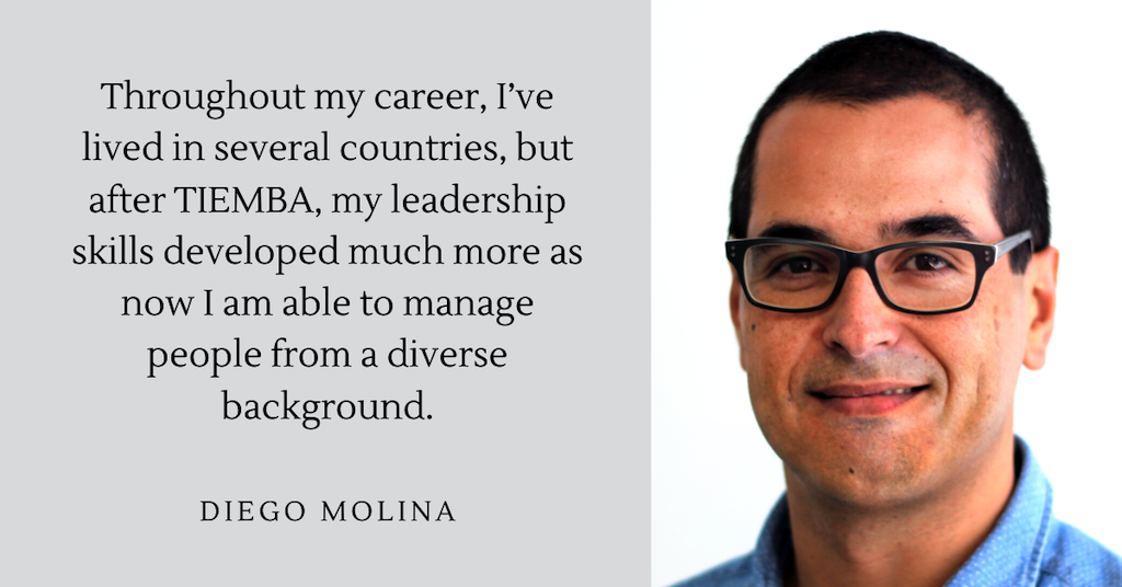 My leadership skills have developed much more. – Diego Molina